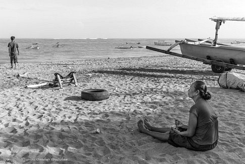 sur une plage de Bali