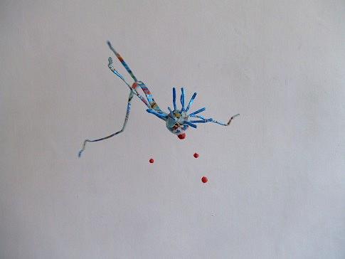 Le clown volant, ht : 25 cm