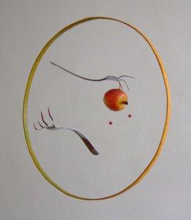 Série Cuisine - Destin de pomme - diamètre : 70 cm