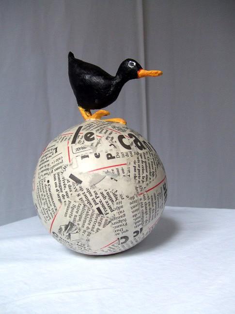 Le canard déchaîné,  culbuto - ht :  20 cm