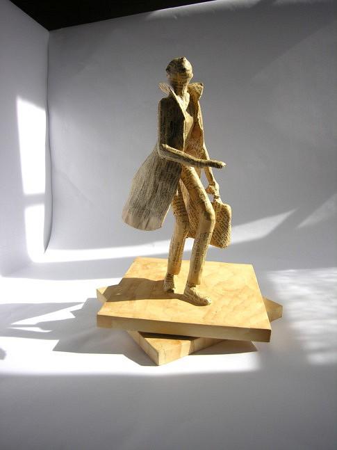 Le voyageur - sculpture, hauteur 40 cm