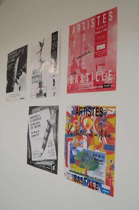 les affiches des anciennes expositions pour les 30 ans des AaB