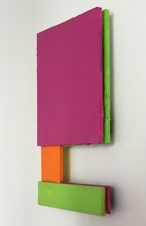 Carte postale, 14x10cm, acrylique sur aluminium