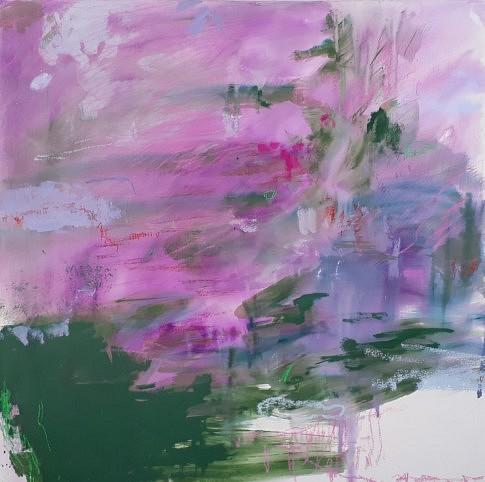 Bois de Paris,  2018  peinture à l'eau et à l'huile, crayon, pastel et plâtre  – 80 x 80 cm