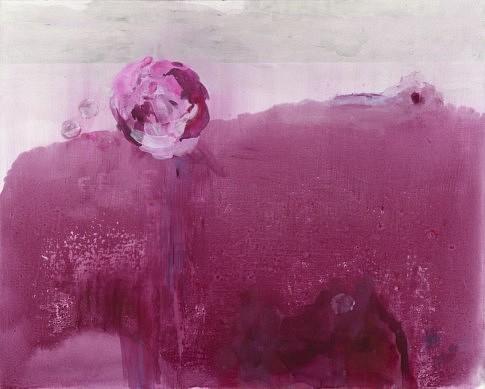 Bouquet de rose II - 2015 - peinture à l'eau et à l'huile, crayon et plâtre, 81 x 100 cm c Laurence Prat