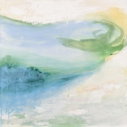 Marée basse 2003  peinture à l'eau et à l'huile et plâtre  80 x 80 cm c Laurene Prat