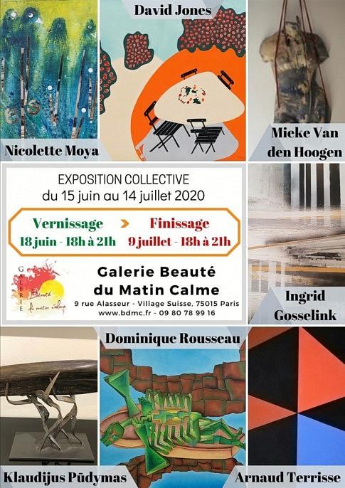 Exposition à la Galerie Beauté Du Matin Calme du 15 juin au 15 juillet - Paris 15à