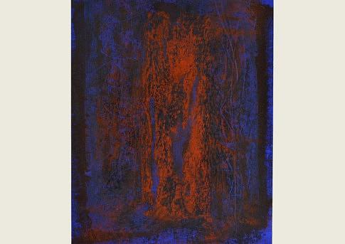Fragments de nuits blanches 26, mixte sur papier, 42 x 21 ,7 cm.
