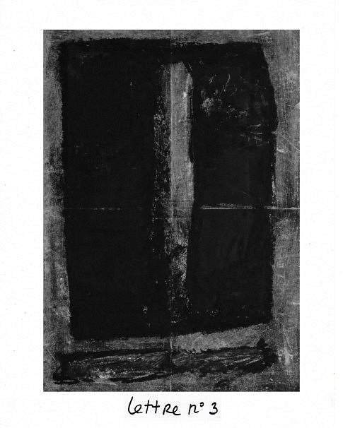Lettre n°3, mixte sur papier, 40 x 50 cm.