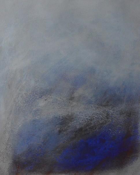Terre échappée VII, mixte sur papier, 40 x 50 cm.