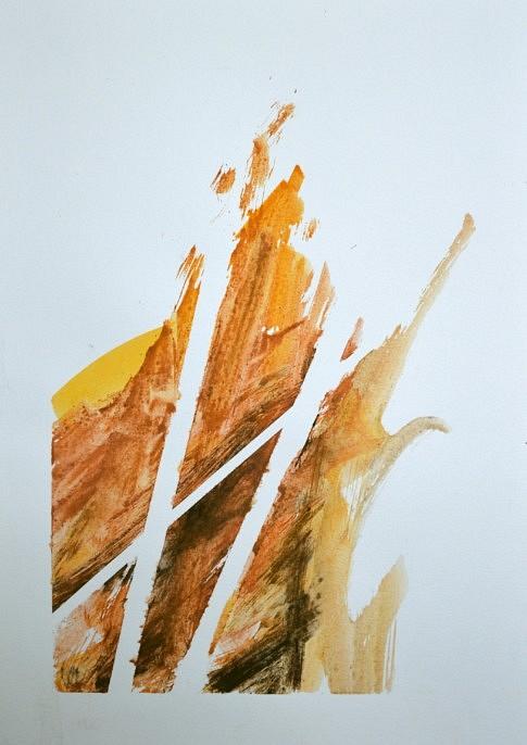 Terres (XIX),  terre, fusain et aquarelle sur papier, 29,7 x 42 cm